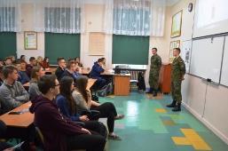 Wizyta podchorążych WAT w II Liceum Ogólnokształcącym w Lubartowie_1
